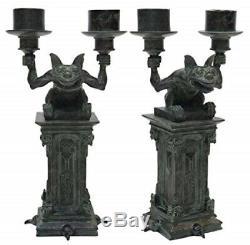 Disney Haunted Mansion Gargoyle Bougeoir Set Gothique Candelabra De Deux Nouveaux