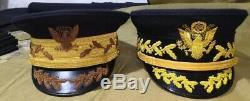 Ensemble De Deux Militaires Américains Ww1 Chapeaux Généraux