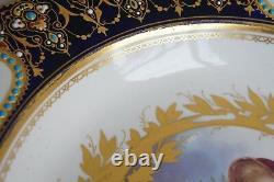 Ensemble De Deux Plaques De Porcelaine De La Fin Du 18e Siècle - Début Du 19e Siècle