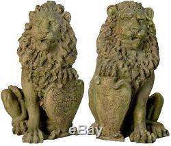 Ensemble De Deux Richelieu Lions Gate Statue Sculpture Pour La Maison Ou Le Jardin