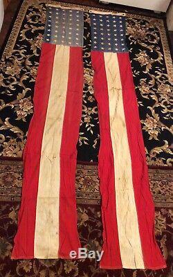 Ensemble De Deux Vintage 92 X 15 Bunting Banneramerican Drapeau Rouge Blanc Bleu Stars