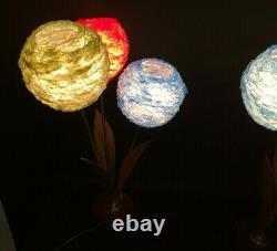 Ensemble De Deux Vintage Des Années 60 70 Spun Lucite Shade Lamp MID Century Modern Lighting