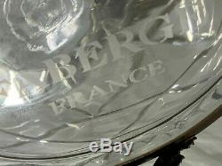 Fabergé France Cristal Egg Caviar & Vodka Serveur Set Bowl, Deux Verres Et Decanter