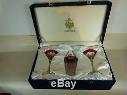 Fabergé Grand-duc Martini Shaker Argent & Cristal Et Deux Lentilles En Verre Avec Étui Et Couvercle