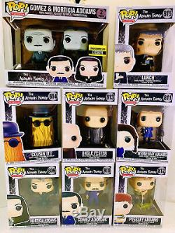 Funko Famille Addams 9 Pop Set Avec Lurch & Gomez Morticia Reg & Ee Pack Deux