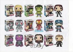 Funko Marvel Avengers 2 Deux 3.75 Figure 9pc Set Thor Hulk Ultron Vision - Gang