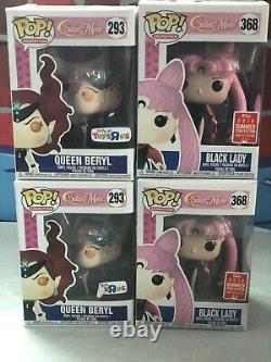 Funko Pop Sailor Moon Black Lady 368 & Queen Beryl 293 Ensemble De Deux