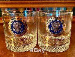 Gerald R. Ford Presidential Seal Ensemble De Deux Verre D'autrefois