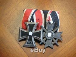 German1939 Troisième Reich Seconde Guerre Mondiale Deux Pièces Médaille Barre Avec Bagues Originale Numerotée