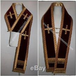 Habit De L'évêque Orthodoxe Omophors L'ensemble De Velours Allemand De Deux