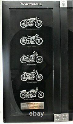 Harley Davidson Framed Shadow Box Legendary Racing Machines Ensemble De Deux