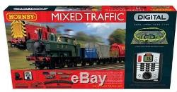 Hornby R1236 Trafic Mixte Fret Digital Ensemble Complet Avec Deux Trains Locos