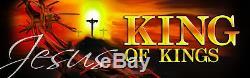 Inspiré Église Chrétienne Banners Roi Et Seigneur (deux Banniere Set)