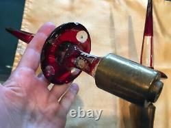 Jeu De Two11-1 / 2bohemian Cut Crystal Spire Obélisque Spike Chandelier / Candelabra