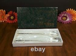 Korean Pure Silver 99% Two Sujeo Chopstick & Spoon Sets 140 Grammes Nos Exc Vtg