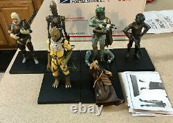 Kotobukiya Artfx + Star Wars 6x Bounty Hunter 1/10 Échelle Deux Pack Statue Ensemble Lot