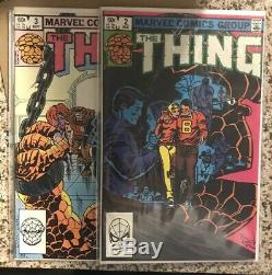 La Chose # 1-36 Set Avec Deux # 1 Copies 1983 Clean Marvel Comic Lot