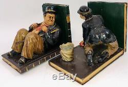 Laurel Et Hardy Unique Jeu De Deux Bookends Très Rares 12,5 Longueur Et 9 Haut