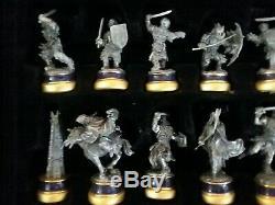 Le Seigneur Des Anneaux Noble Collection Jeu D'échecs (32) + Deux Tours Agrandissent (12)