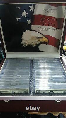 Les Etats-unis D'amérique 50 État De Deux Dollars Projet De Loi Collection Coffret