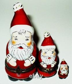 Limoges Box Noël Nichoir Le Père Noël A Mis Deux Boîtes Trois Pièces