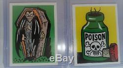 Lot De Deux Histoires 1960 Leaf Spook Sticker Set De 4 Vintage Non Sport Monstres