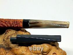 Martelo (gustavo Cunha) 2020 Cased Custom Ring Grain Blast Estate Two Pipe Set