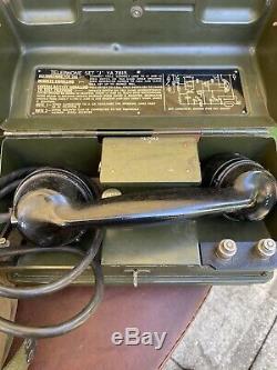 Millitary Poste Téléphonique J Ya7815 Ensemble De Deux Et De Travail Par Câble