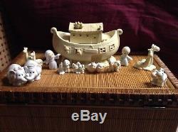 $ Moments Precieux Noahs Ark Deux 2 Par 2 Lot 11 Piece Set 2 X 2 Boîtes Collectible