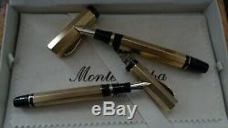 Montegrappa Réminiscence Fountain Pen Ensemble De Deux Solid Gold 18k