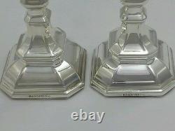 Nouveau Solide Argent Sterling 925 Paire Deux 2 Chandeliers Ensemble Candle Holders Shabbat