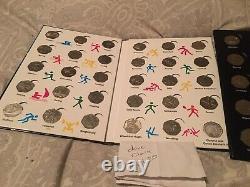 Olympic 50p Complete 29 Coin Collection Deux Ensembles Complets À La Fois Dans Les Albums