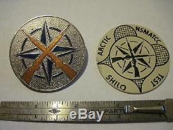 Otan Deux Badges Mis Rare Armes Légères Essai Commission Nsmatcc Canada Temps Froid
