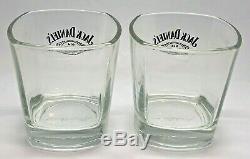 Paire De Jack Daniels Rocks Glasses Gift Set Pub Whisky Bar 2 Deux Tumbler
