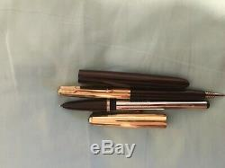 Parker 51 Bourgogne Aeromatic 14k Nib Deux Set Pieces Pen Rare