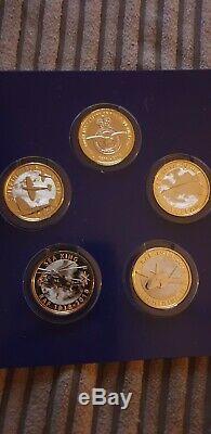 Raf 2 Two Pound Coin Set. Tous Les 5 Pièces Bunc 2018. Rare Et Collectables