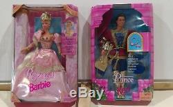 Rapunzel 1997 Poupée Barbie Collection 17646 Et Prince Ken Deux Set Barbie