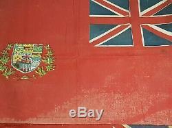 Rare Ensemble De Deux! Canada Ensign Bataille Drapeau Rouge 1870 (5 Province) Et 1900 (9 Prov.)