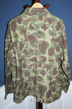 Rare Originale Ww2 U. S. Army Deux Pièces Camo Veste / Set Pantalon, Nommé À Gi