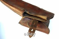 Rare Première Guerre Mondiale 1916 Marqué En Cuir Set Fusil De Cavalerie Allemande Holster Deux Pouches Selle