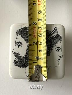 Rare Set Of Two Fornasetti With Roman Diety Janus Profil