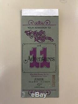 Rare Vintage Set Of Two Original Octobre 1971 Et 1970 Walt Disney Talons De Billets