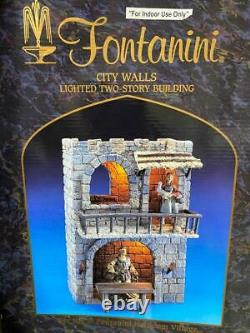 Roman Fontanini Christmas Nativité Set City Walls Deux Histoire Lighted Building