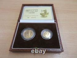 Royal Mint 1987 Britannia Gold Proof Two Coin Set Collection £25 £10
