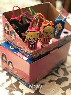 Sailor Moon Handy Sanz Lot Main Cas Complet De 12. Deux Ensembles De 6 Avec Affichage