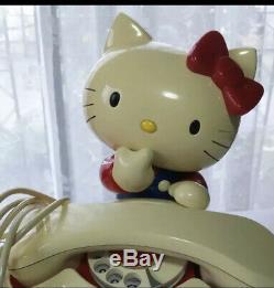 Sanrio Bonjour Kitty Vintage Figure Téléphone Grande Condition Deux Set Me58