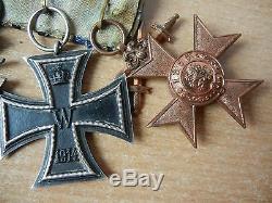 Set Allemand Ww1 Bavarois Merenti Deux Cross Long Service 9 Années De Remise Des Médailles Du Groupe