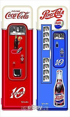 Set Of Two Et Vintage Coca Cola Pepsi Machines Vinyle Adhésif Custom Order