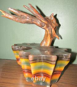 Set Two 2 Driftwood Wax Candles True Vintage 1970s Unused Hippie San Francisco