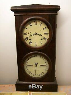 Seth Thomas Deux Cadran Calendrier Horloge 1869- 1876 Avec 2 Séries D'instructions. Clés